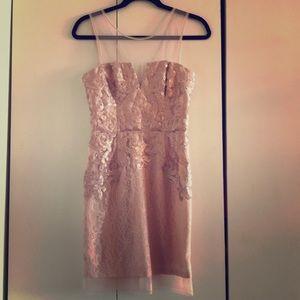 BCBG Maxazria Champagne Pink Dress